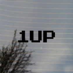 8 Bit 1Up Large Gaming Vinyl DecalStickers (FREE US Shipping) (For car, laptop, tablets etc)