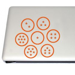 Dragon Spheres Anime Vinyl Decal Set Stickers (FREE US Shipping) (For car, laptop, tablets etc)