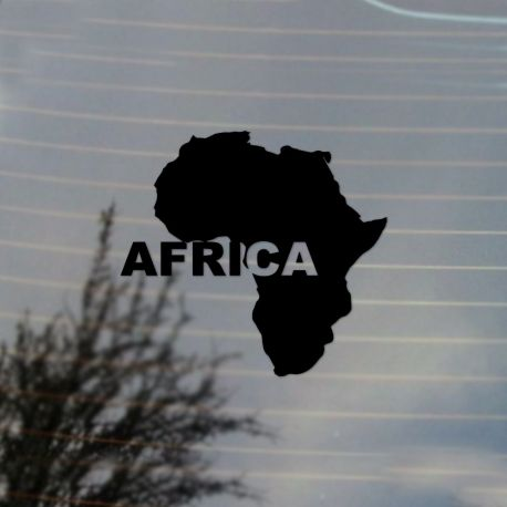 Africa Continent Named Black Pride Vinyl Decal Sticker (FREE US Shipping) (For car, laptop, tablets etc)