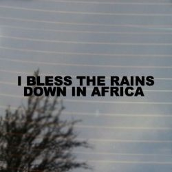 I Bless The Rains Down In Africa Vinyl Decal Sticker (FREE US Shipping) (For car, laptop, tablets etc)