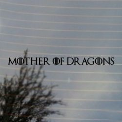 Fantasy Mother of Dragons Vinyl Decal Sticker (FREE US Shipping) (For car, laptop, tablets etc)