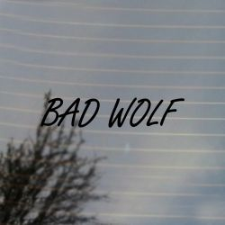 Bad Wolf Vinyl Decal (FREE US Shipping) (For car, laptop, tablets etc)