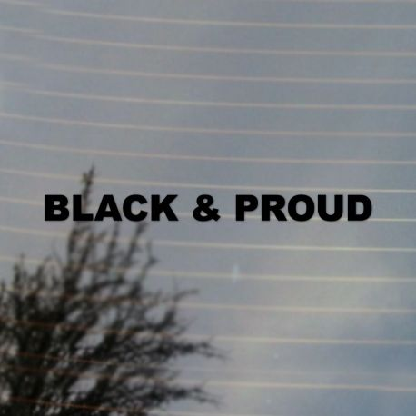 Black And Proud Black Pride Vinyl Decal Sticker (FREE US Shipping) (For car, laptop, tablets etc)