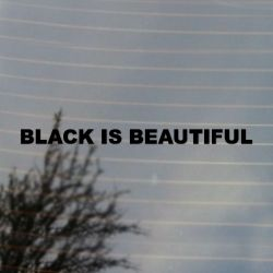 Black is Beautiful Black Pride Vinyl Decal Sticker (FREE US Shipping) (For car, laptop, tablets etc)