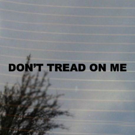 Don't Tread On Me Vinyl Decal Sticker (FREE US Shipping) (For car, laptop, tablets etc)