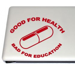 Good for Health Bad for Education Anime Cyberpunk Vinyl Decal Sticker (FREE US Shipping) (For car, laptop, tablets etc)