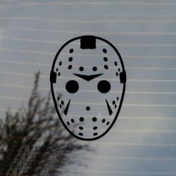 Hockey Mask Horror Vinyl Decal Sticker (FREE US Shipping) (For car, laptop, tablets etc)