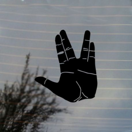 Live Long and Prosper Vinyl Decal Sticker (FREE US Shipping) (For car, laptop, tablets etc)