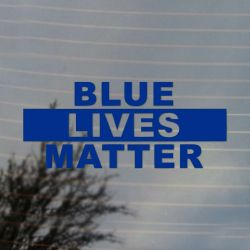 Blue Lives Matter Pride Activism Vinyl Decal Sticker (FREE US Shipping) (For car, laptop, tablets etc)