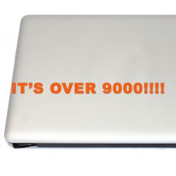 It's Over 9000! Dragon Anime Vinyl Decal Sticker (FREE US Shipping) (For car, laptop, tablets etc)