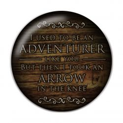 I used to be an adventurer like you Pinback Button Badge