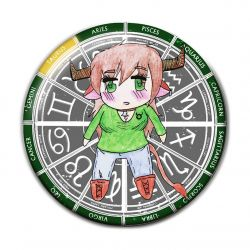 Original Chibi Horoscope Zodiac Taurus Button