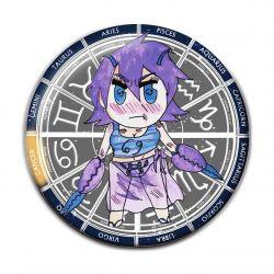 Original Chibi Horoscope Zodiac Cancer Button Badge