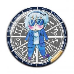 Original Chibi Horoscope Zodiac Scorpio Button Badge