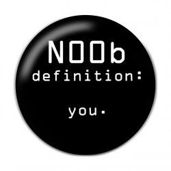 Original Gaming N00b Definiton Button Badge