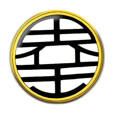 World King Kanji Pinback Button Badge
