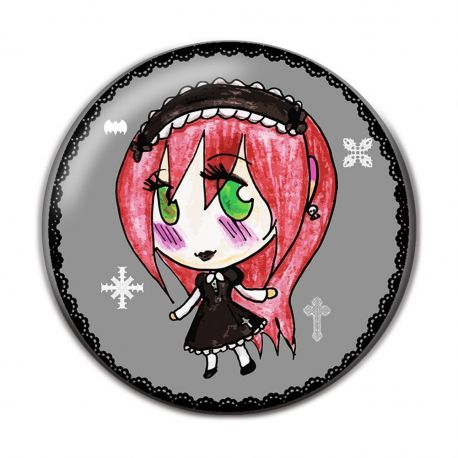 Lolita Gothic Pinback Button Badge