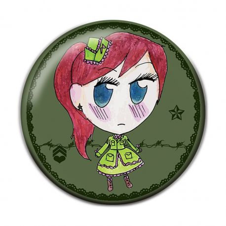 Lolita Military Pinback Button Badge