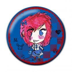 Lolita Punk Button Badge