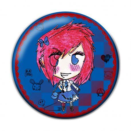 Lolita Punk Button Badge