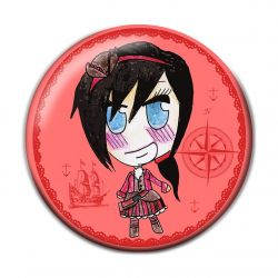 Lolita Pirate Button Badge