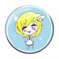 Lolita Shiro Button Badge