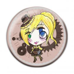 Lolita Steampunk Button Badge