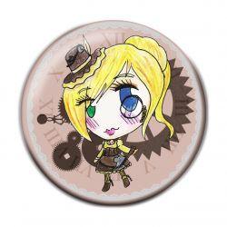 Lolita Steampunk Button Badge