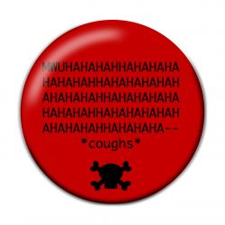 NOOB Evil Laugh Pinback Button Badge
