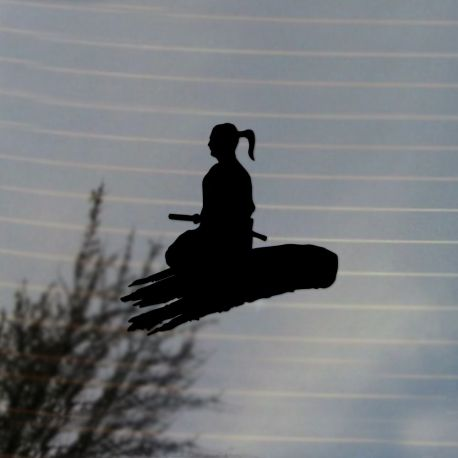 Japanese Meditating Samurai Vinyl Decal Vinyl Decal Sticker (FREE US Shipping) (For car, laptop, tablets etc)
