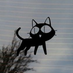 Anime Inspired Black Cat Vinyl Decal (FREE US Shipping) (For car, laptop, tablets etc)