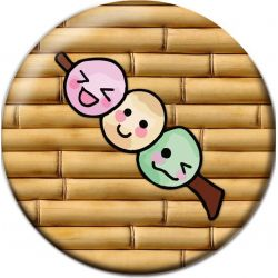 Kawaii Dango Pinback Button Badge