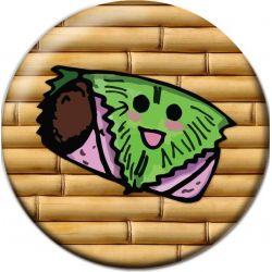 Kawaii Kashiwa Sakura Mochi Pinback Button Badge