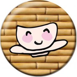 Kawaii Ocha Chai Green Tea Pinback Button Badge