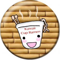 Kawaii Cup Ramen Button Badge