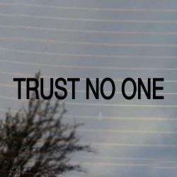 Trust No One Science Fiction Vinyl Decal Sticker (FREE US Shipping) (For car, laptop, tablets etc)