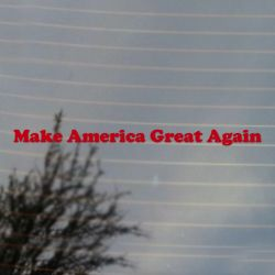 Make America Great Again Trump Political Slogan Vinyl Decal  (FREE US Shipping) (For car, laptop, tablets etc)