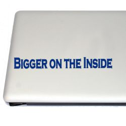 Science Fiction Inspired Bigger On the Inside Vinyl Decal Sticker (For car, laptop, tablets etc)