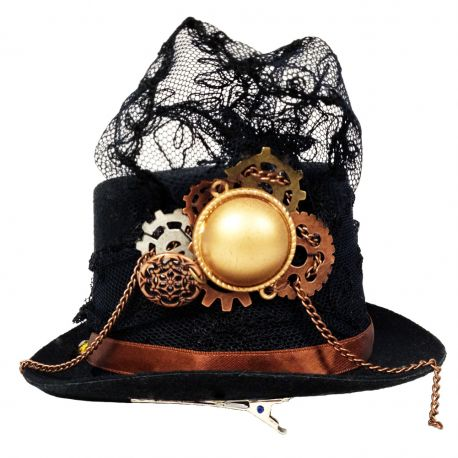 Steampunk Flapper Mini Top Hat (Steampunk Themed Decorative Hat)