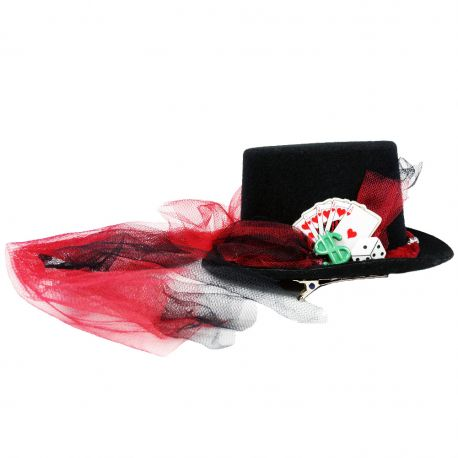 The High Roller Mini Top Hat (Vegas Casino Themed Decorative Hat)