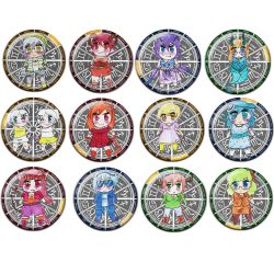 Original Chibi Horoscope Zodiac Aries Button Badge