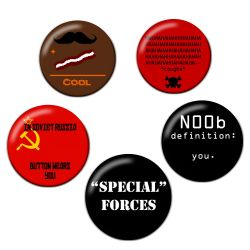 Original Gaming Humor Comedy Button Badge Bundle
