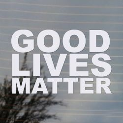 GOOD Lives Matter Activism Vinyl Decal (FREE US Shipping) (For car, laptop, tablets etc)