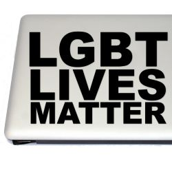 LGBT Lives Matter Activism Vinyl Decal