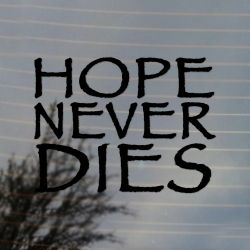 Hope Never Dies Steampunk Science Fiction Vinyl Decal Sticker (FREE US Shipping) (For car, laptop, tablets etc)
