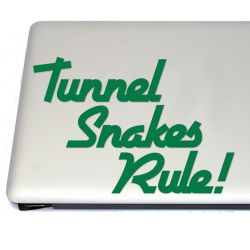 Tunnel Snakes Rule! Retro Video Game Vinyl Decal  Sticker (FREE US Shipping) (For car, laptop, tablets etc)