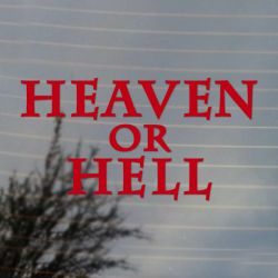 Heaven or Hell Music Vinyl Decal