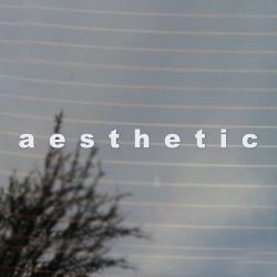 aesthetic Vaporwave Vinyl Decal  Sticker (FREE US Shipping) (For car, laptop, tablets etc)