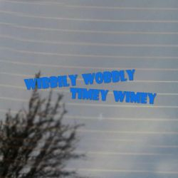 Wibbily Wobbly Timey Wimey Vinyl Decal Sticker (FREE US Shipping) (For car, laptop, tablets etc)