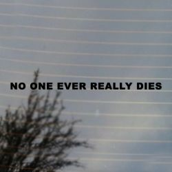 No One Ever Really Dies Vinyl Decal (FREE US Shipping) (For car, laptop, tablets etc)